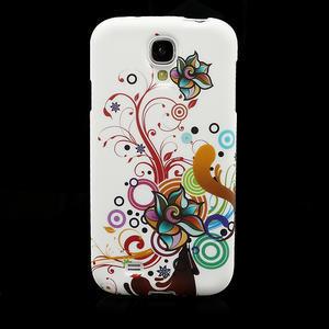 Gelové pouzdro pro Samsung Galaxy S4 i9500- barevná květina - 2