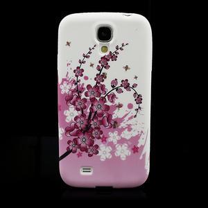 Gelové pouzdro pro Samsung Galaxy S4 i9500- kvetoucí švestka - 2