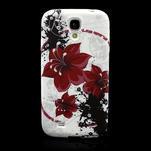 Gelové pouzdro pro Samsung Galaxy S4 i9500- červený květ - 2/7