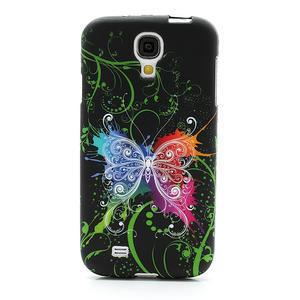 Gélové puzdro pro Samsung Galaxy S4 i9500- farebný motýl - 2