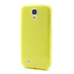 Gélové slim puzdro na Samsung Galaxy S4 i9500- žlté - 2