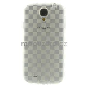 Gélové kosočvercové puzdro na Samsung Galaxy S4 i9500- Transparentní - 2