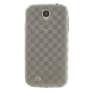 Gélové kosočvercové puzdro na Samsung Galaxy S4 i9500- šedé - 2