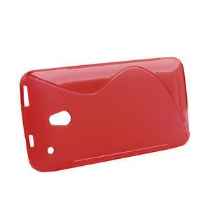 Gélové S-line puzdro pre HTC one Mini M4- červené - 2