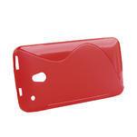 Gélové S-line puzdro pre HTC one Mini M4- červené - 2/5