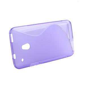 Gélové S-line puzdro pre HTC one Mini M4-fialové - 2