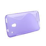 Gélové S-line puzdro pre HTC one Mini M4-fialové - 2/3