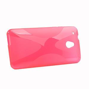 Gélové X-line puzdro pre HTC one Mini M4- ružové - 2