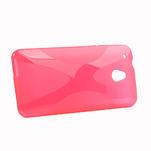 Gélové X-line puzdro pre HTC one Mini M4- ružové - 2/4