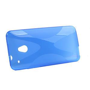 Gélové X-line puzdro pre HTC one Mini M4- modré - 2
