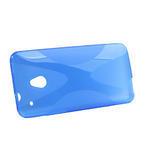Gélové X-line puzdro pre HTC one Mini M4- modré - 2/4