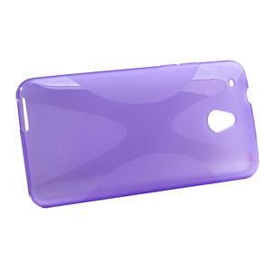 Gélové X-line puzdro pre HTC one Mini M4- fialové - 2