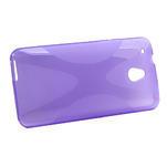 Gélové X-line puzdro pre HTC one Mini M4- fialové - 2/4