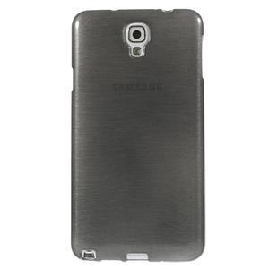 Gélové kartáčované puzdro pre Samsung Galaxy Note 3- čierné - 2