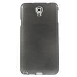 Gélové kartáčované puzdro pre Samsung Galaxy Note 3- čierné - 2/5
