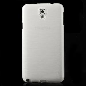Gélové kartáčované puzdro pre Samsung Galaxy Note 3 Neo- biele - 2