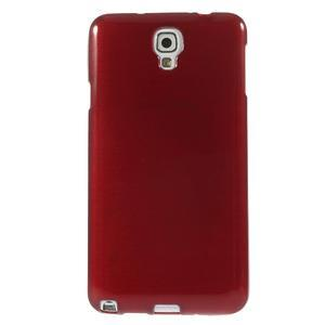 Gélové kartáčované puzdro pre Samsung Galaxy Note 3 Neo- červené - 2