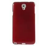 Gélové kartáčované puzdro pre Samsung Galaxy Note 3- červené - 2/3