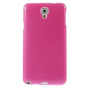 Gélové kartáčované puzdro na Samsung Galaxy Note 3 Neo- růžové - 2