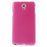 Gélové kartáčované puzdro na Samsung Galaxy Note 3 Neo- růžové - 2/5