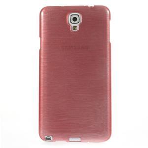 Gélové kartáčované puzdro pre Samsung Galaxy Note 3 Neo- svetloružové - 2