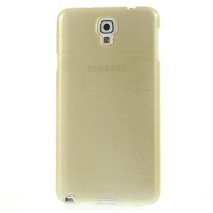 Gélové kartáčované puzdro na Samsung Galaxy Note 3- zlaté - 2