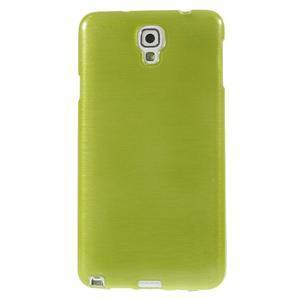 Gélové kartáčované puzdro na Samsung Galaxy Note 3- zelené - 2