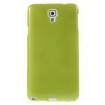 Gélové kartáčované puzdro na Samsung Galaxy Note 3- zelené - 2/5