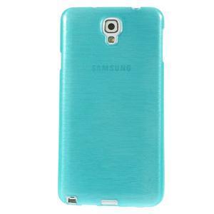 Gélové kartáčované puzdro pre Samsung Galaxy Note 3- modré - 2