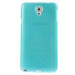 Gélové kartáčované puzdro pre Samsung Galaxy Note 3- modré - 2/5
