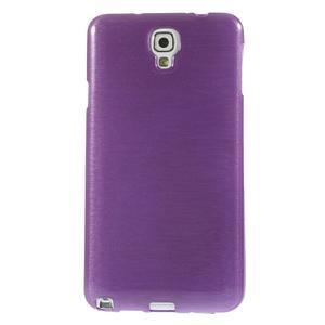 Gélové kartáčované puzdro na Samsung Galaxy Note 3- fialové - 2