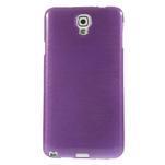 Gélové kartáčované puzdro na Samsung Galaxy Note 3- fialové - 2/5