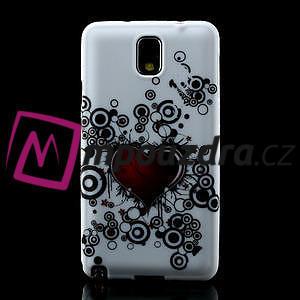 Gélové puzdro na Samsung Galaxy Note 3- horké srdce - 2