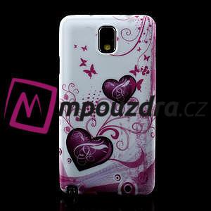 Gélové puzdro pre Samsung Galaxy Note 3- dve srdca - 2