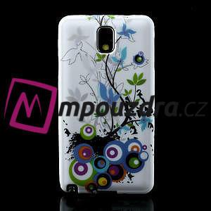 Gélové puzdro na Samsung Galaxy Note 3- květiny - 2
