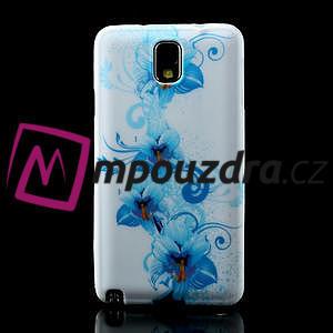 Gélové puzdro na Samsung Galaxy Note 3- modrá lilie - 2