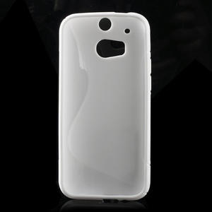 Gélové S-line puzdro pre HTC one M8- biele - 2