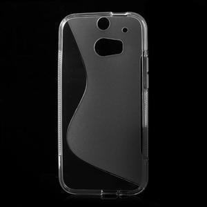 Gélové S-line puzdro pre HTC one M8- transparentný - 2