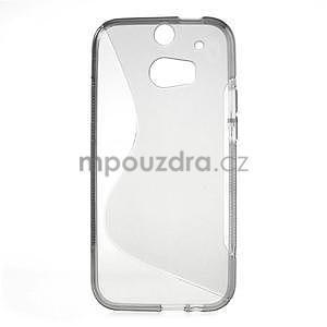 Gélové S-line puzdro pre HTC one M8- šedé - 2