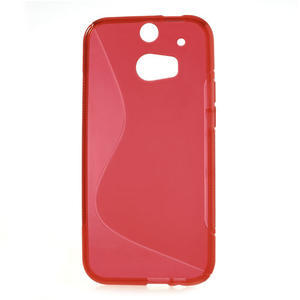 Gélové S-line puzdro pre HTC one M8- červené - 2