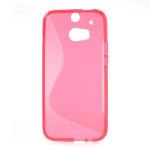 Gélové S-line puzdro pre HTC one M8- ružové - 2