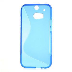 Gélové S-line puzdro pre HTC one M8- modré - 2