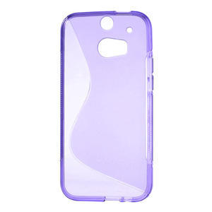 Gélové S-line puzdro pre HTC one M8- fialové - 2