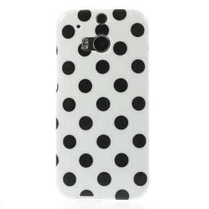 Gélové-PUNTÍKY puzdro pre HTC one M8- čierné - 2