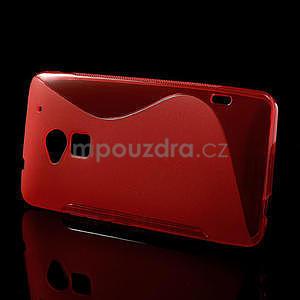 Gélové S-line puzdro pre HTC one Max-červené - 2