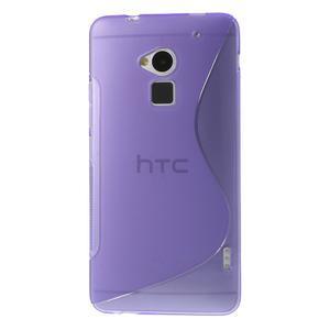 Gélové S-line puzdro na HTC One Max- fialové - 2