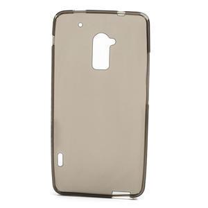 Gélové matné puzdro pre HTC one Max- šedá - 2