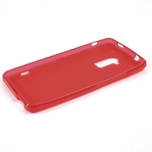 Gélové matné puzdro pre HTC one Max- červená - 2