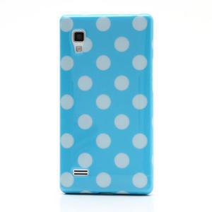 Gélové PUNTÍK puzdro pre LG Optimus L9 P760- modré - 2