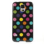 Gélové puntíkaté puzdro pre Samsung Galaxy S5- černofarebné - 2/5